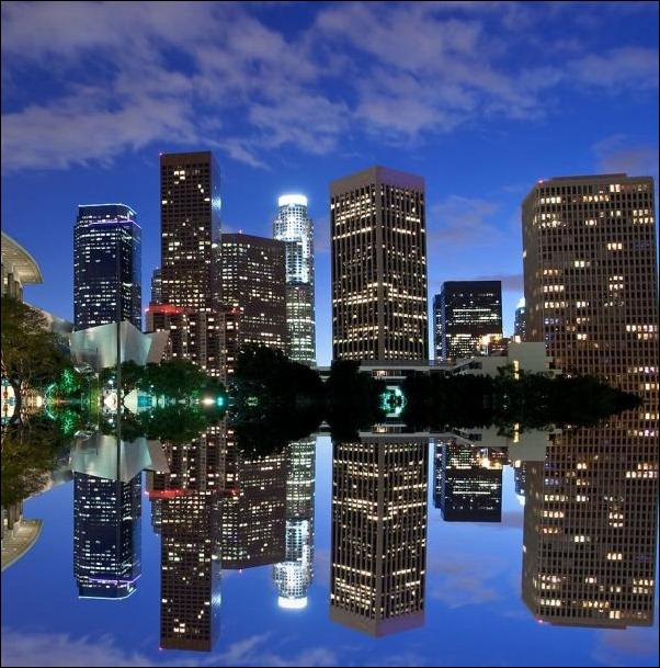 12. Los Angeles, CA, USA reflection in water