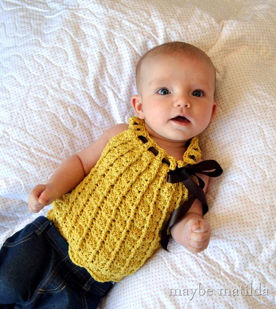 Maybe Matilda Sweetest Ever Crochet Baby Top
