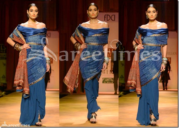 Tarun_Tahiliani_Blue_Saree
