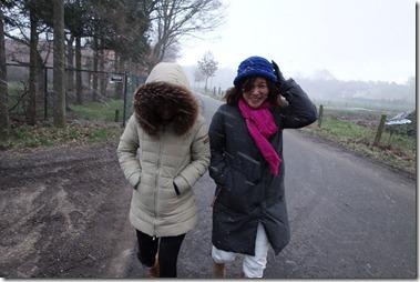 突然吹雪いてきた!