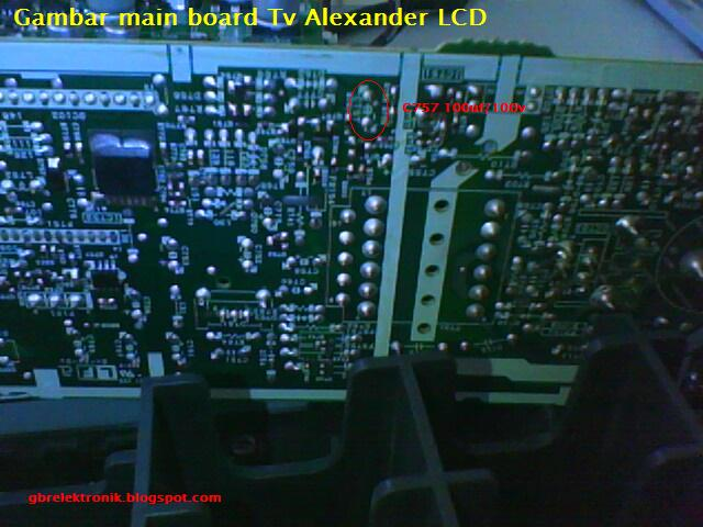 main board alexander lcd tv