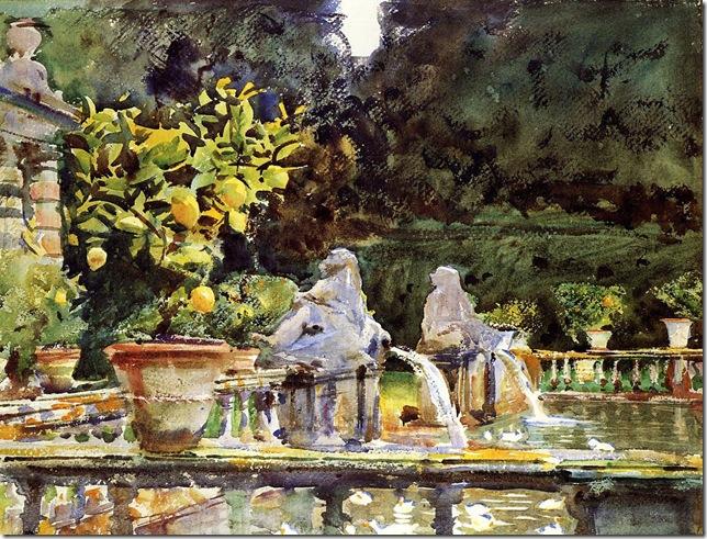 Sargent-John-Singer-Villa-de-Marlia-A-Fountain