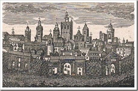 Imagen idealizada de Valencia. Grabado de 1857