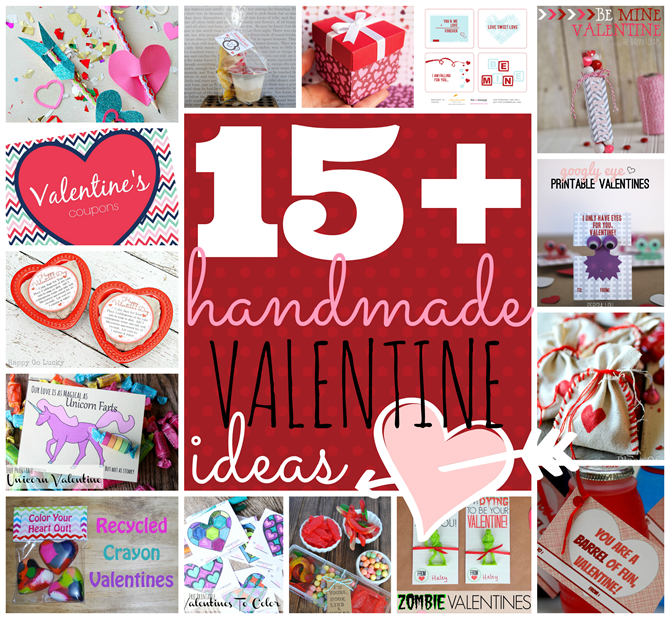 Over 15 handmade Valentine Ideas at GingerSnapCrafts.com #linkparty #valentine #features