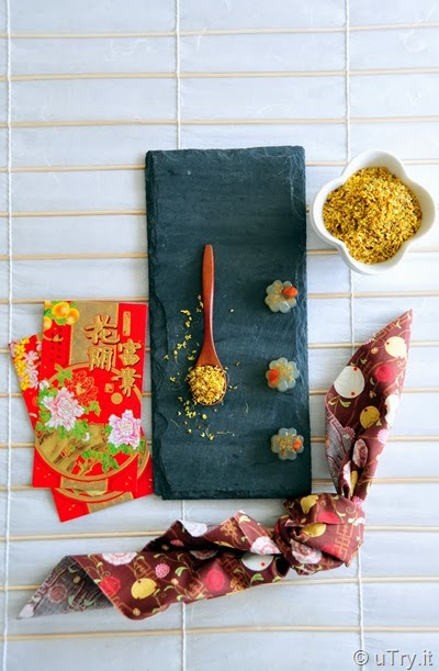 Osmanthus Jelly with Goji Berries