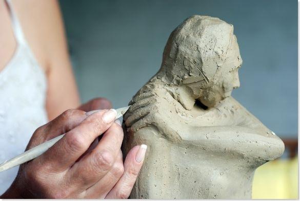 woman sculptor