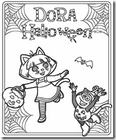 dora halloween jugarycolorear (6)