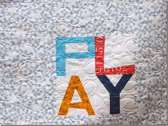 PLAYING WITH BALLS backside modern quilt pattern ZEN CHIC