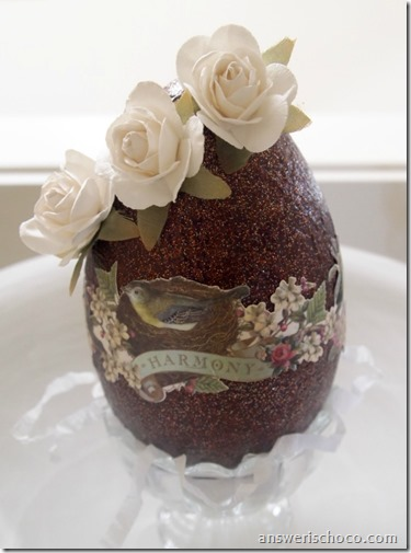 Chocolate Rose Egg