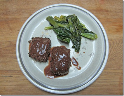 Lamb patties with braised escarole