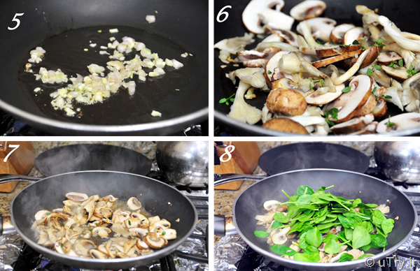 Soccas with Mushrooms and Spinach Pictorial B