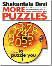 Best quantitative and reasoning aptitude books for competitive exams shakuntla devi more puzzles shakuntala devi more puzzles pdf ebook fandeluxe Image collections