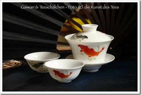 Gaiwan und Teeschälchen