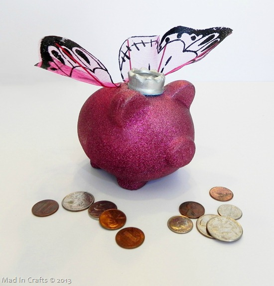 Dollar Store Fairy Princess Piggy Bank