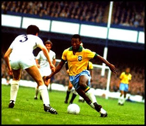 The legendary Pele in action for Brazil