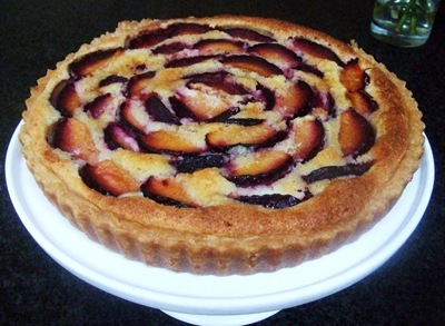 plum frangipane tart