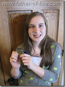 #4 of 5 with her Basketball Medal