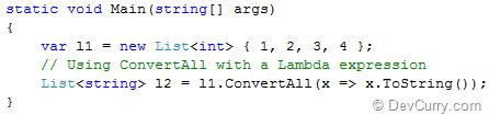 ConvertAll with Lambda