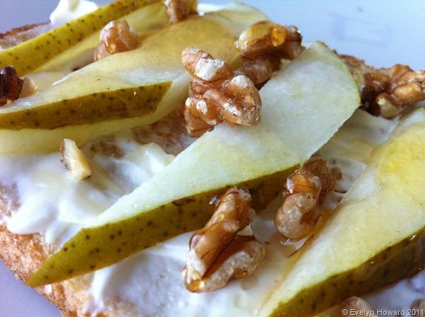 Pears on toast © Evelyn Howard 2011