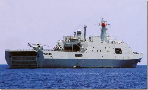 China warship