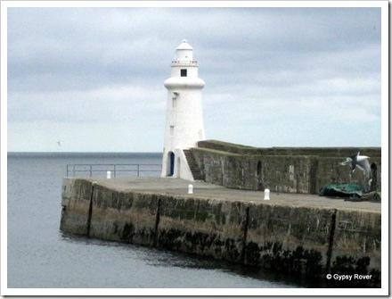 Macduff harbour light.