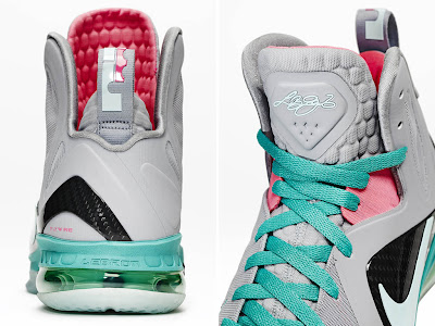 nike lebron 9 ps elite grey candy pink 9 06 official LeBron 9 P.S. Elite Miami Vice Official Images & Release Date
