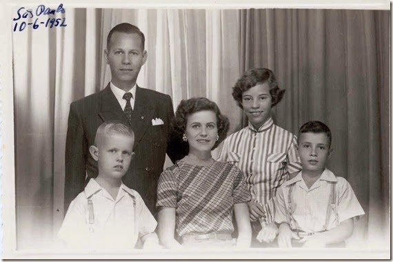 Webster Family Before Leaving for the United States in 1952