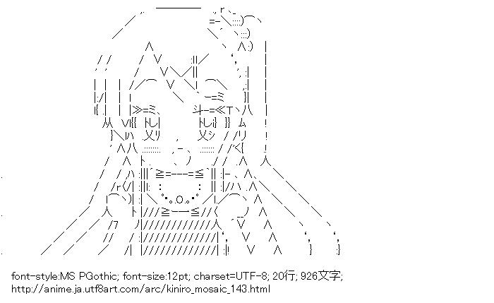 [AA]アリス・カータレット (きんいろモザイク)
