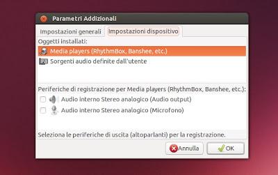 Audio Recorder - Preferenze