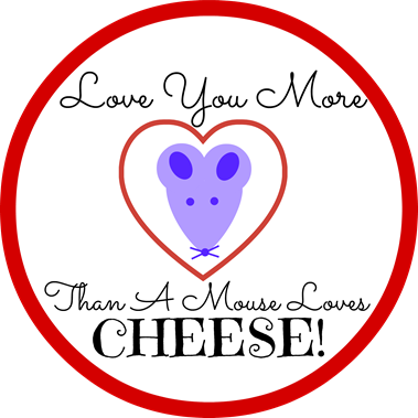 Love You More Than A House Loves Cheese Valentine Printable - The Silly Pearl