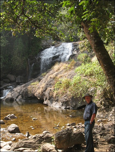 Nicholas at a Waterfall