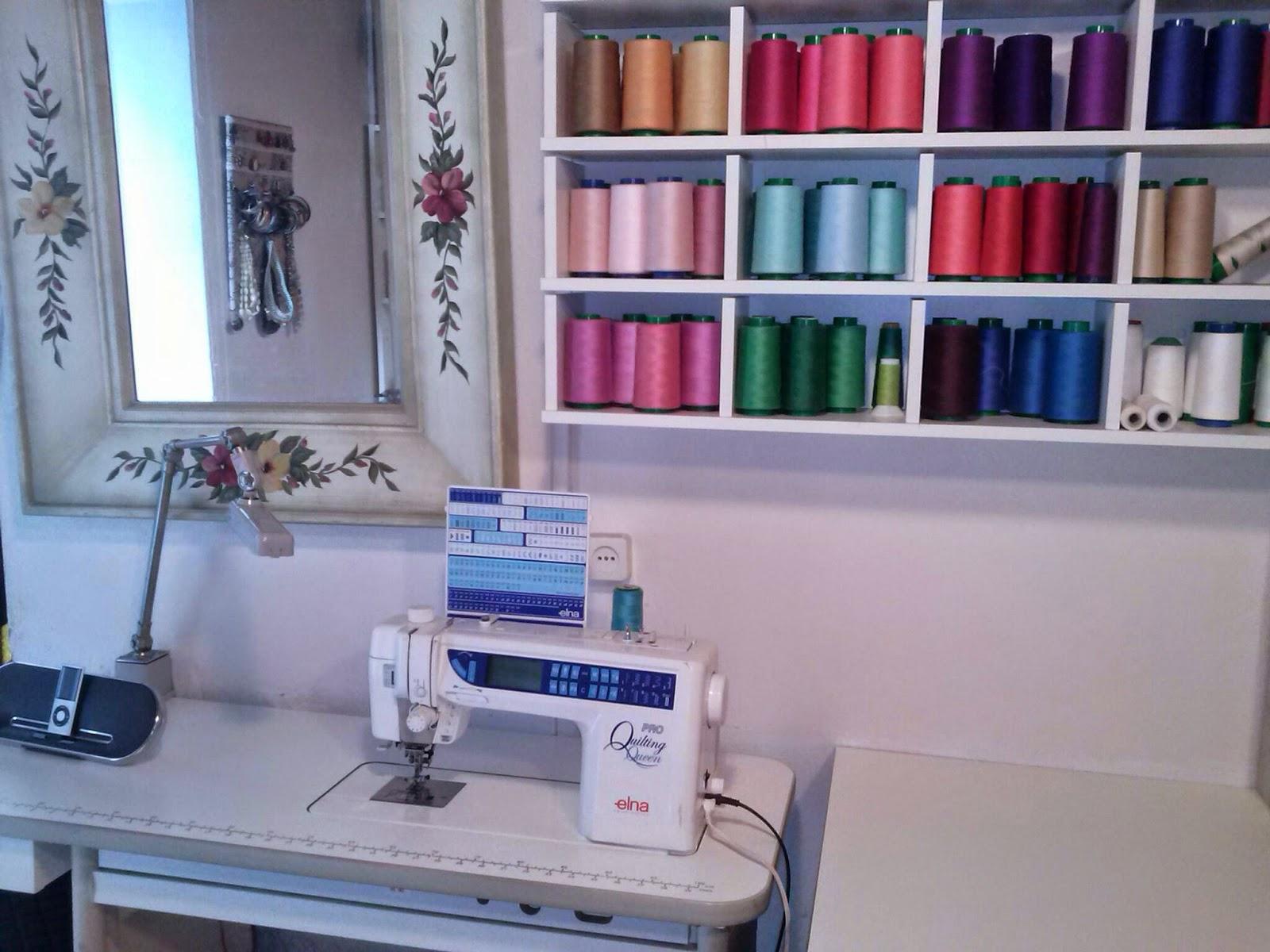 El patchwork de Rosa: Mi cuarto de costura.