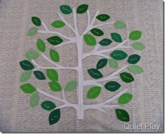 Family Tree Quilt Layout