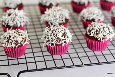 Mini Chocolate Coconut Cupcakes (6)