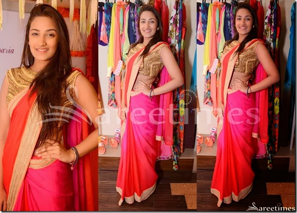 Pink_Red_Dual_Color_Saree