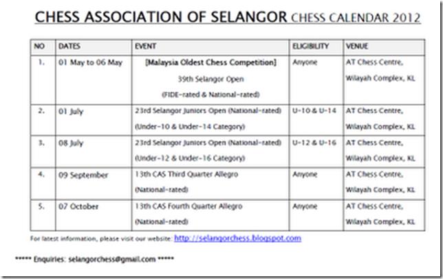 CAS Calendar 2012N