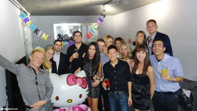 giant hello kitty and the birthday party in Toronto, Ontario, Canada