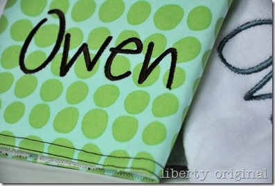 Burp Cloth Owen Close