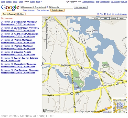 'WTF Is Up With Google Maps' photo (c) 2007, Matthew Oliphant - license: http://creativecommons.org/licenses/by-nd/2.0/