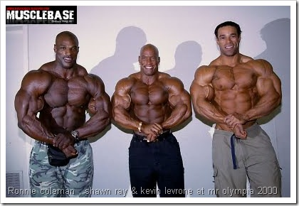 Ronnie coleman _shawn ray_kevin levrone at mr olympia 2000
