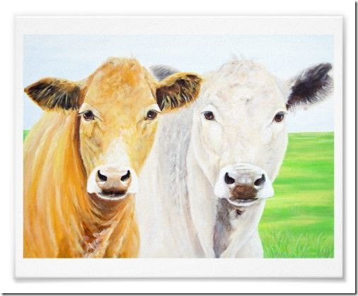 Two Cows print