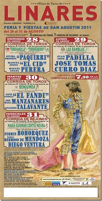 cartel de feria de Linares