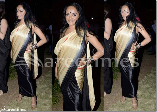 Cream_Black_Half_and_Half_Saree