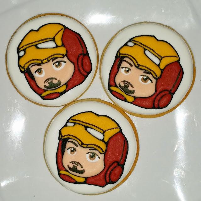 chibi ironman cookies