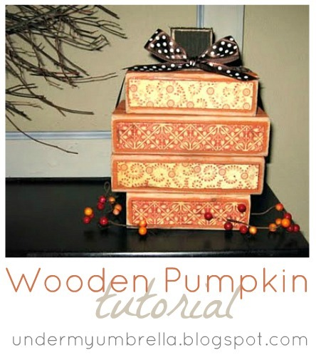 wooden pumpkin tutorial
