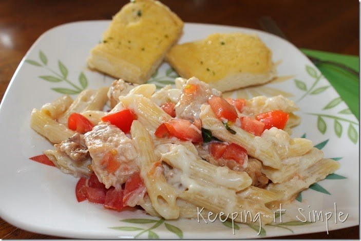 #ad 3-cheese-penne-chicken-pasta #summerofgiving (3)