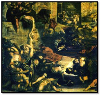 La matanza de los inocentes, Tintoretto, 1582