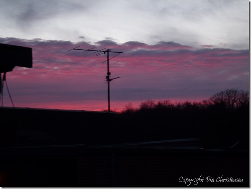 Solnedgang 23. febr. 12