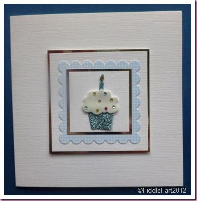 gingham cupcake card