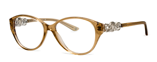 These Versace frames from LensCrafters ($270) have pretty decorative details. Use their AccuFit progam to ensure that you get glasses that are perfectly sized to your eyes.